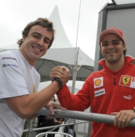 Ferrari: un incontro inaspettato tra Massa e Alonso