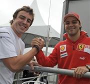 Fernando Alonso: primo giorno di lavoro con la Ferrari