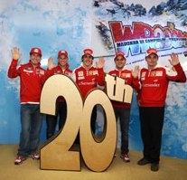 Debutto a Campiglio per i piloti della Ferrari