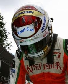 Force India: Subito fuori Sutil. Liuzzi chiude al 12mo posto